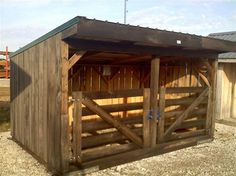 Mini horse barn ands goat barn or shelter Goat Shelter, Horse Shelter, Sheep Shelter, Shelter Dogs, Horse Shed, Horse Barn Plans, Poney Miniature, Goat Shed, Horse Barn Designs
