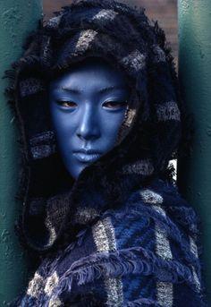 "Issey Miyake blue, ""Stern"", 1984"