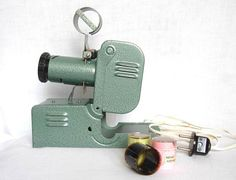 Vintage tin light movie slide projector PIONEER with by antiquesbg, $60.00