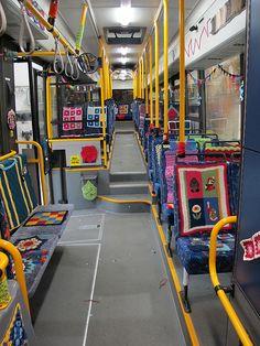 Yarnbombing – A Yarnbombed Bus InIceland
