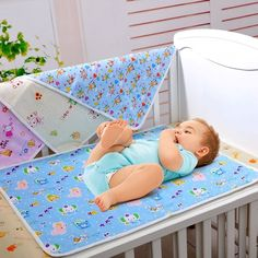Per Disposable Baby Insulation Pad Urinal Mattress Baby Care Pad Maternal Maternity Nursing Mat Baby Waterproof Urine Pad Double-sided Washable Newborn Infant Bed Pad