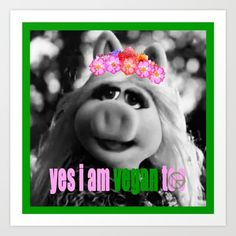 I am Vegan too! Art Print by azima Zen Colors, More Than Love, Summer Of Love, Yoga Meditation, Going Vegan, Compassion, Reiki, Peace And Love, Namaste