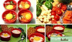 Przepis na jajka zapiekane w kokilkach z pomidorami, serem, łososiem i bazylią