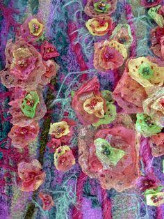 Heat fusible Angelina fibre textile art by Alysn Midgelow-Marsden