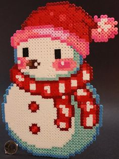Christmas snowman perler beads by Todd S. - Perler® | Gallery