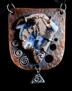 Stone Age Pendant  Sterling silver cooper and by AAandAlanonGifts, $80.00