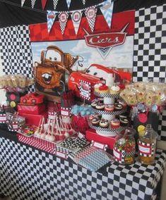 Mesa dulces cars