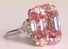 Pink diamond:  sold at Sothebys for 10.9 million dollars!