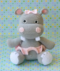 Hanna the Hippo by Lullubies on Etsy, $60.00