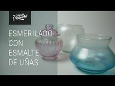 Como hacer Esmerilado con Esmalte de Uñas - YouTube Recycled Bottles, Diy Painting, Decoupage, Diy And Crafts, Glass Vase, Nail Polish, Nails, Home Decor, Painted Wine Bottles