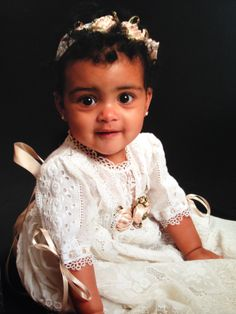 My granddaughter in her Christening gown