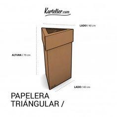 Kartelier | Muebles de cartón - Papelera triangular en cartón