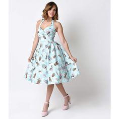 Hell Bunny 1950s Rockabilly Suki Tiki Stretch Halter Swing Dress ($48) ❤ liked on Polyvore featuring dresses, white pinup dress, rockabilly swing dress, white swing dress, white ruched dress and halter summer dress