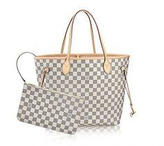 Louis Vuitton Damier Azur Canvas Rose Ballerine Neverfull Mm N41605 Handbags Priceslouis