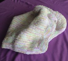 Handmade knitted Pram Blanket in Multi Colour and Off White Baby Chenille wool. Baby Knits, Prams, Rainbow Colors, Baby Knitting, Making Out, Babys, Centre, Stripes, Rug