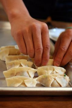 How to make Chinese dumpling- very tasty! I used wonton wrappers and they worked just fine
