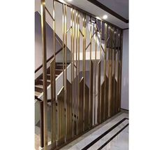 metal screen - One Living Room Partition Design, Room Partition Designs, Home Room Design, Bathroom Interior Design, Decorative Metal Screen, Window Grill Design, Boutique Interior, Classic Interior, Staircase Design