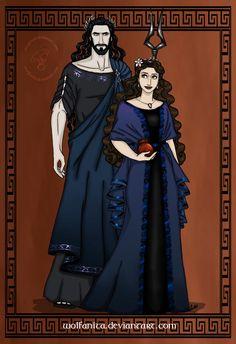 GodsOfAncientGreeceCouples: Hades and Persephone by wolfanita