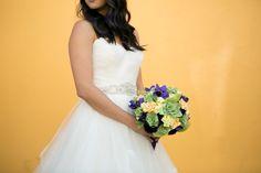 Alternative floral art bouquet we created with paper & fabrics for a stunning, unconventional option to fresh flowers! www.hanawillowdesign.com  Photo credit @lindsaydocherty Dress courtesy of @ashebco Dress designer @kellyfaetanini