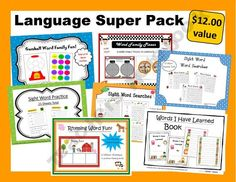 Language Super Pack product from Sensational-Homeschooling on TeachersNotebook.com