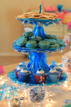Disney Frozen Birthday Party treats! See more party ideas at CatchMyParty.com!