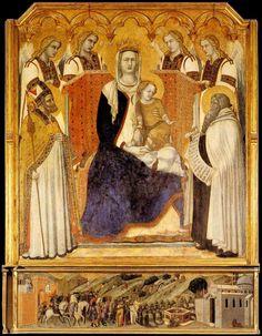 Madonna with Child Pietro Lorenzetti Siena Pinacoteca - Лоренцетти, Пьетро — Википедия. Пьетро Лоренцетти. «Мадонна со святыми» 1328-29гг. Сиена, Пинакотека.