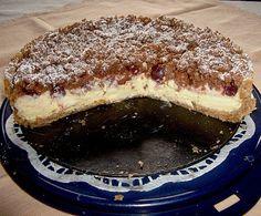 Leckere Rezepte: Kirsch Pudding Streuselkuchen