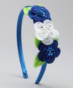 Blue Micanopy Floral Headband