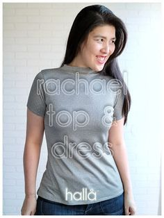 Hallå Patterns Different Necklines, At Least, T Shirts For Women, Patterns, Things To Sell, Shops, Dresses, Bra, Sewing