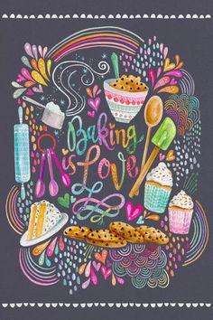 Love Canvas, Canvas Art, Canvas Prints, Art Prints, Cupcake Kunst, Cupcake Art, Cupcake Frosting, Baking Wallpaper, Baking Quotes