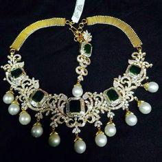 Balaji jewellers diamond necklace