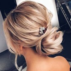 """1,172 Likes, 12 Comments - You & Your Wedding (@youyourwedding) on Instagram: """"Great loose chignon and clever peek a boo comb #Repost @tonyastylist #tiaras#weddinginspiration…"""""""