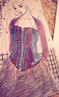 sketch, victoria frances, garment, dresses, corset Corset, Disney Characters, Fictional Characters, Aurora Sleeping Beauty, Sketches, Disney Princess, Dresses, Art, Victoria Frances