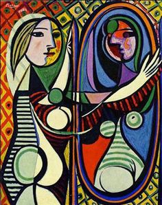 Pablo-Picasso, Donna allo Specchio.  inspiration for pattern behind subject