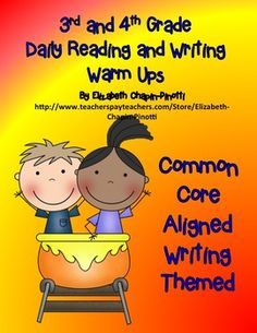 Daily Warm-Ups -- A great way to start the day and to practice Common Core State Standards critical thinking activities. This month's worth of passages is writing process themed, engaging, works well at various levels and can be differentiated.Each of the Daily Warm Up passages are aligned with the Common Core Standards for third and fourth grades and are written at reading levels that vary from second through fourth grades.
