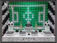 Soccer Birthday Parties, Soccer Party, Wesley, Balloon Decorations, Balloons, Calendar, Holiday Decor, Home Decor, Football Baby Shower