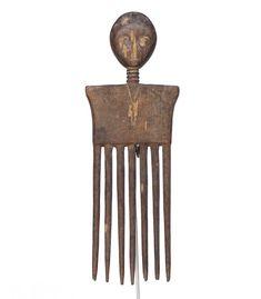 Ashanti Art, Wooden Comb #1602 | Combs | Artifacts — Deco Art Africa - Decorative African Art - Ethnic Tribal Art - Art Deco