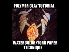 "Polymer clay tutorial - ""Kalyana effect"" - 3D mica shift ripple blade effect - YouTube"