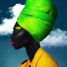 A Place Where Beauty & Culture Collide. While Celebrating The Beauty & Style of The African Diaspora & African Beauty, African Art, African Style, Black Girl Magic, Black Girls, Foto Fashion, High Fashion, Turbans, Headscarves