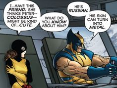 Wolverine doesn't want to talk about boys