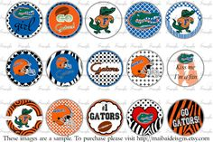INSTANT DOWNLOAD University of Florida Gators football Bottlecap images No. B13