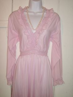 Vintage Olga Nightgown Gown Rare Sleeve by VintageSoulWear on Etsy, $95.00
