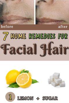 7 Home remedies for FACIAL HAIR!!