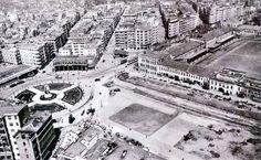Taksim 1940.. Topçu Kışlası'nın yıkılmadan önceki son hali.. #istanbul