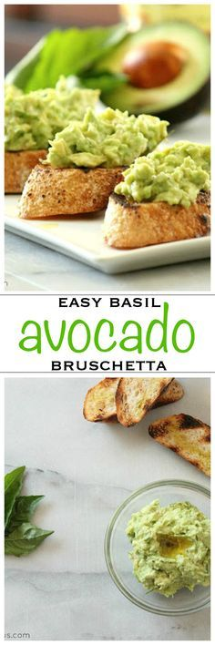 Garlic toasts covered in creamy avocado bruschetta, a perfect appetizer | Foodness Gracious