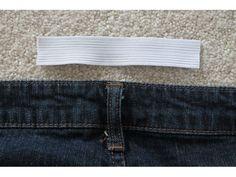 Cut a piece of elastic.