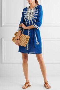 Slavic Ethereal    Figue   Sophie embellished cotton mini dress   NET-A-PORTER.COM
