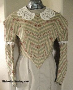 19th C Costuming | Sewing Instructions | Historical Costume | Sewing Pattern Help | Period Clothing — 19th Century Costuming for Those Who Dream of the Past  Matching stripes on a bodice