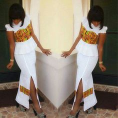 How the famous DBN *LaceKe* started. African Dresses For Women, African Print Dresses, African Print Fashion, African Attire, African Fashion Dresses, African Wear, African Women, Ghanaian Fashion, African Prints