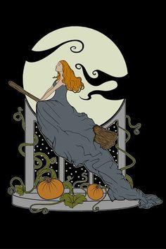 Halloween Nouveau Print ($14)